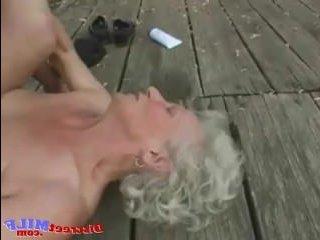 Молодой внук устроил секс с худенькой бабушкой